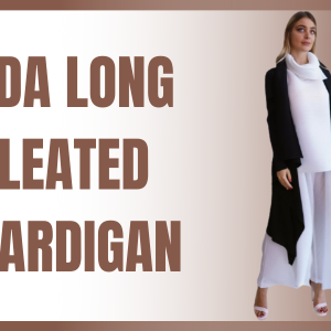 Eda Long Pleated Cardiga