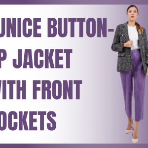 Eunice Button-up Jacket With Front Pockets