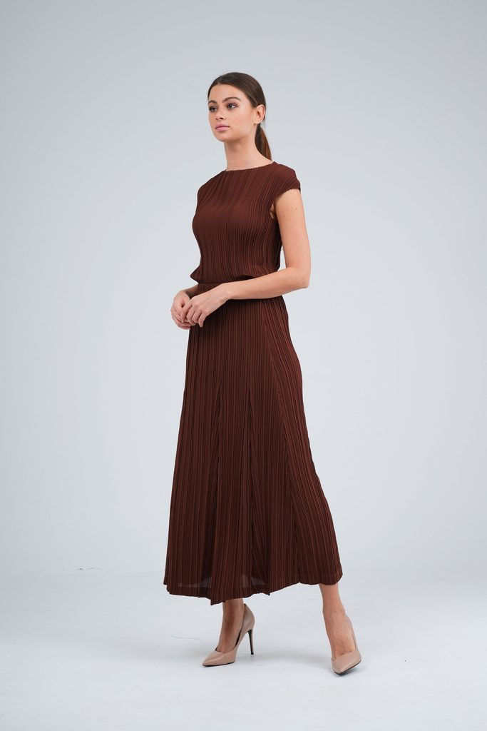 Emmy A-Line Pleated Skirt