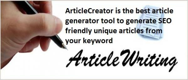 SEO Friendly Article Generator Online Article Realm com Free Article