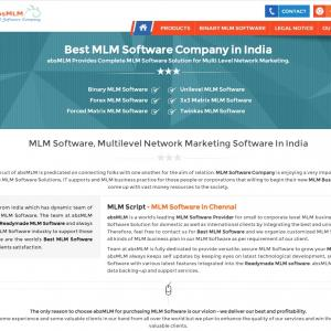The Advantage of Using Readymade php MLM script Chennai