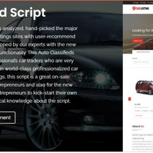 Readymade php Car Classified Script