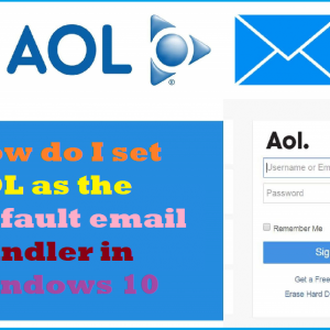 How do I set AOL as the default email handler in Windows 10