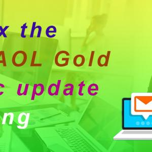 How to fix the issue of AOL Gold automatic update not working