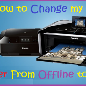 How to Change my Canon Printer From Offline to Online