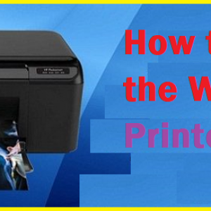 How to connect the Wireless HP Printer