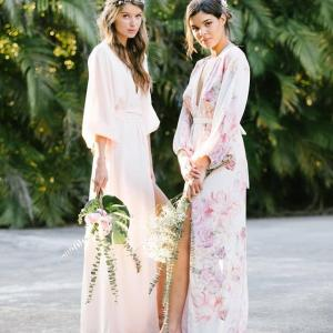 Heartfelt Hours You'll Treasure with These Floral Getting Ready Robes & Photos