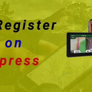 How do I Register My Device on Garmin Express