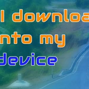 How do I download a Route onto my Garmin device