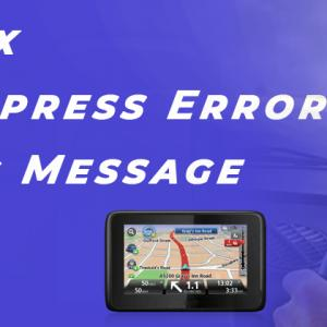 How to Fix Garmin Express Error Installing Message