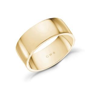 8mm Gold Wedding Band will Be a Perfect Fit for Your Finger
