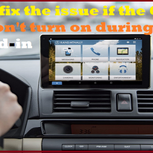 How to fix the issue if the Garmin Nuvi won't turn on during Plugged-in