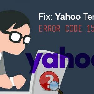 Fix: Yahoo Temporary Error Code 15