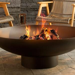 An Outdoor Modern Fire Pit Is Ideal For House Parties