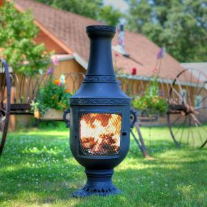 An Outdoor Chiminea That Rests On The Outdoor Patio Is A Perfect Setting For Relax