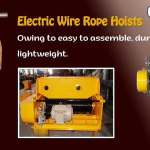 What are the types of wire rope hoists?