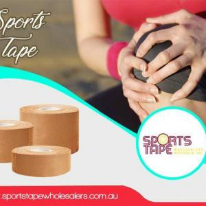 Feather touch of sports tape to pacify your sports injuries
