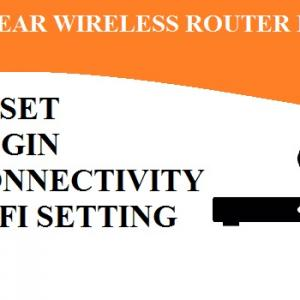 How to do the Wireless Setup of The Netgear router?