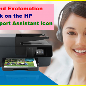 Found Exclamation mark on the HP Support Assistant icon