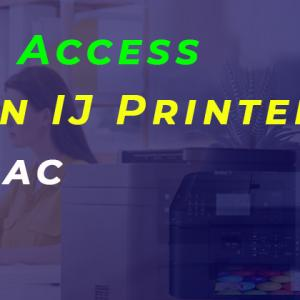 How Do I Access the Canon IJ Printer Utility-Mac