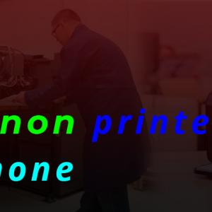 How do I add a Canon Printer to my iPhone