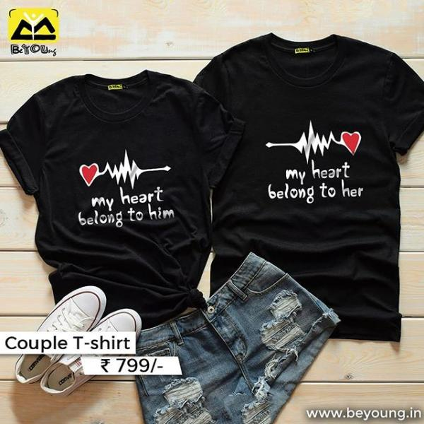 Buy Unique And Exclusive Couple Tee Online Article