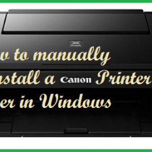 How to manually uninstall a Canon Printer driver in Windows