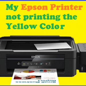 My Epson Printer not printing the Yellow Color
