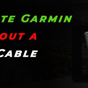 Can I update Garmin Maps without a USB Data Cable