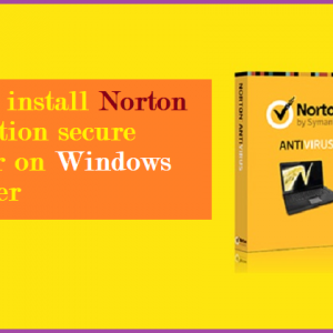 How to install Norton recognition secure Toolbar on Windows computer
