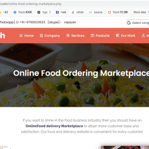 Food Ordering Marketplace script