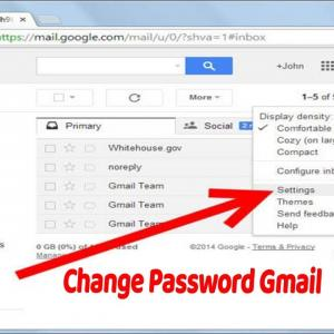 How to change gmail password in android phone?